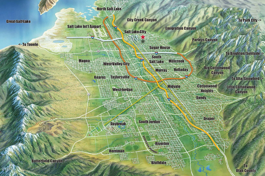 Awesome Wasatch Mountains Map Photos - Printable Map - New ...